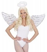 Engel Kostüm Zubehör Set mit Pailletten