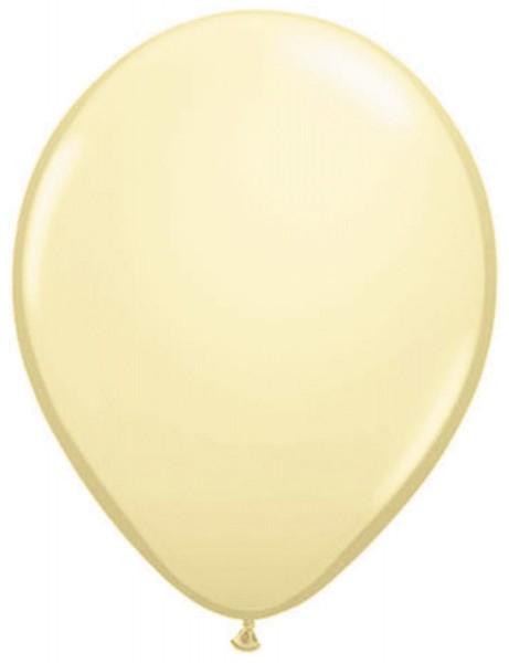 10 Ivory Balloons 30cm