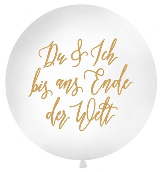 Jusqu'au bout du monde Ballon XL or 1m