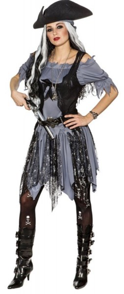 Costume de pirate zombie Ella