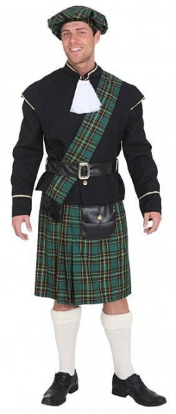 Costume scozzese verde per uomo