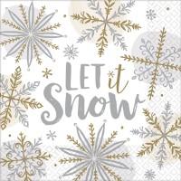 16 Serviettes Let it snow 33cm