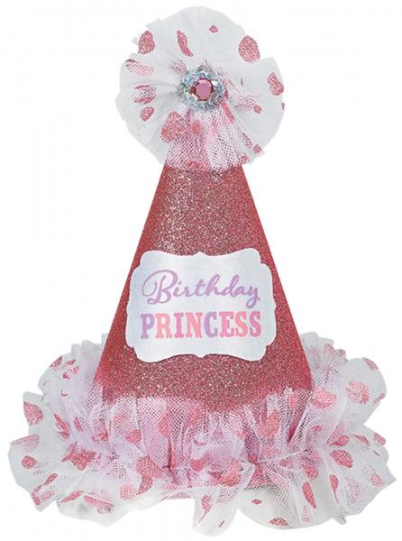 6 sombreros de fiesta de princesa con tela