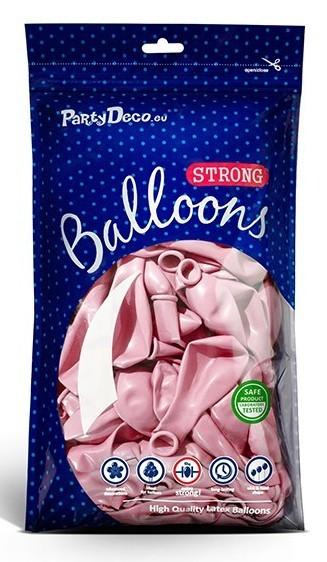10 globos metalizados estrella de fiesta rosa claro 30cm