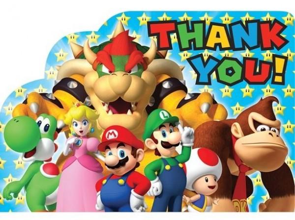 8 Super Mario World Dankeskarten