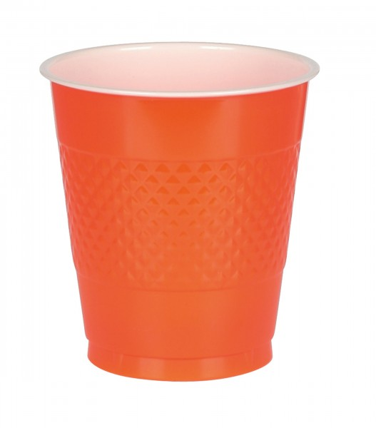 20 Plastikbecher orange 355ml