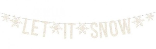 Let it Snow guirlande holographique 1,7 m