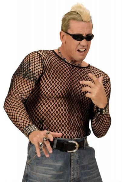 Camicia in maglia nera per uomo