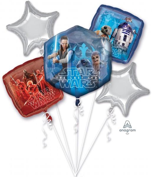 5 Folienballons Star Wars - The last Jedi