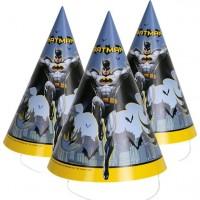 8 Batman Hero Partyhüte 10,5cm