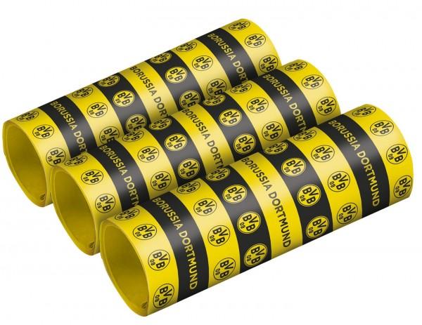 3 serpentinas del BVB Dortmund de 4 mx 1,4 cm