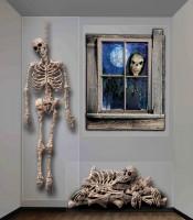 Grusel Skelett Wandbild 3-Teilig 120x160cm