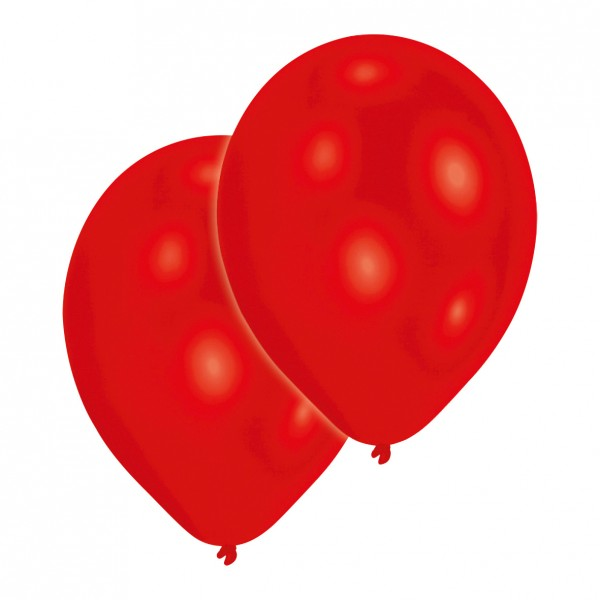 Set of 10 red balloons 27.5cm