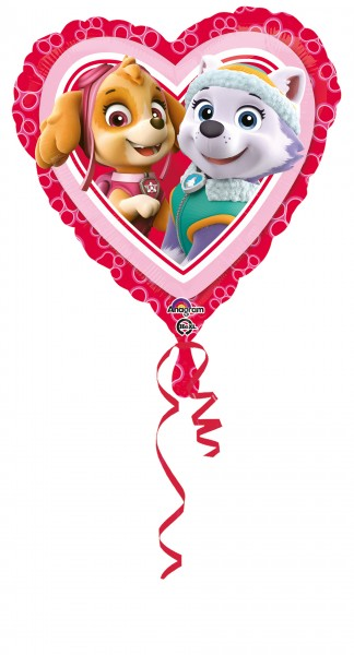 Paw Patrol Heart Balloon Skye & Everest