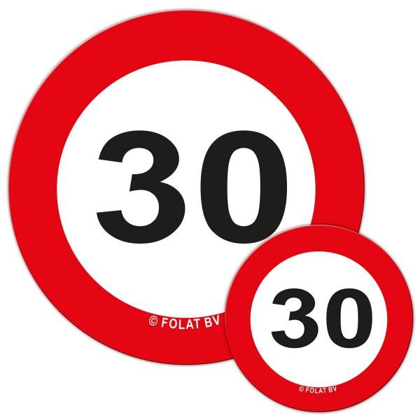 Verkehrsschild 30 Streudeko