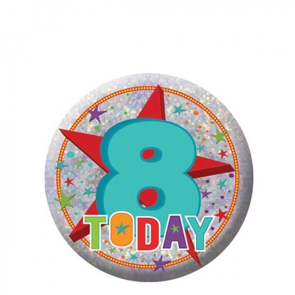 Botón de octavo cumpleaños 5.5cm
