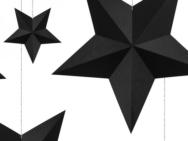 6 stelle deco appese in nero