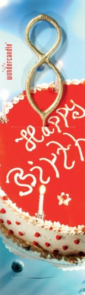 Sparkler joyeux anniversaire nombre d'or 8