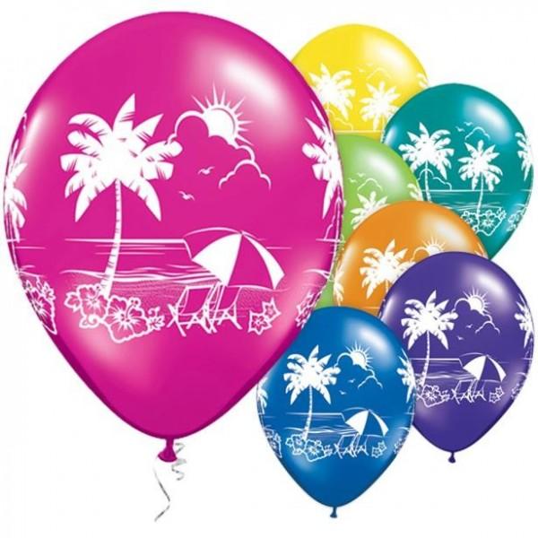 25 globos de playa tropical 28cm