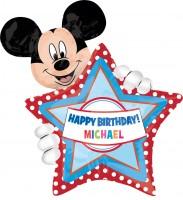 Personalisierbarer Geburtstagsballon Mickey Mouse