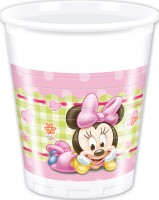 8 Minnie Mouse Babyparty Becher 200ml