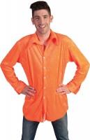 Neonlight Partyhemd Für Herren Orange