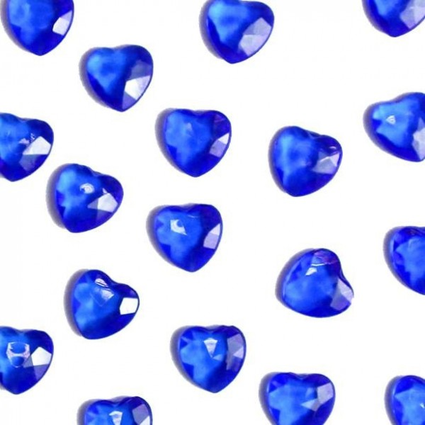 Saphirblaue Diamantherzen Streudeko 28g