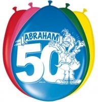 8 Glückwunsch Abraham Luftballons 30cm