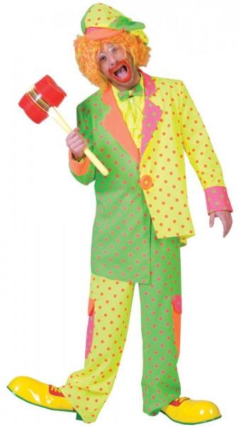 Buntes Clown Herrenkostüm