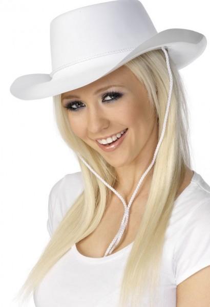Cowboyhut In Reinweiß