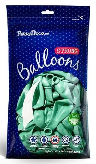 10 Partystar metallic Ballons mint 23cm