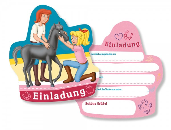 6 Bibi und Tina Einladungskarten