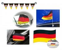 Deutschland Fan Autodeko Set 6-teilig