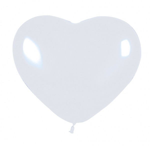 5 big love heart balloons white 30cm