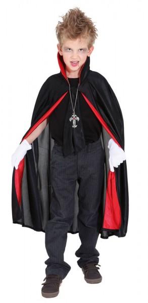 Dracul Vampire Cloak per bambini in nero e rosso