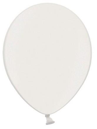 100 globos metalizados Celebration blanco 23cm
