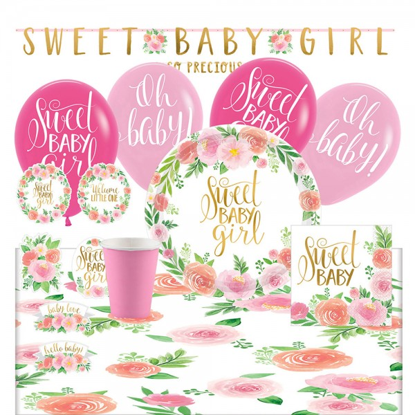 Party Set Sweet Baby Girl 53-delig