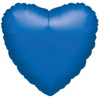 Marineblauer Herzballon 43cm