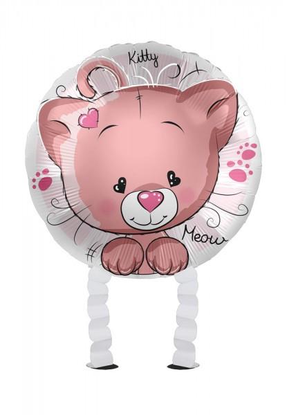 Globo foil pequeño gato Airwalker 43cm