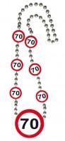 Verkehrsschild 70 Halskette
