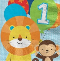 16 First Party Animal Servietten 33cm