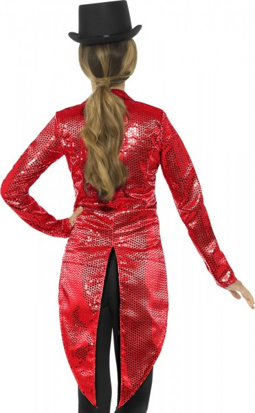 Tailcoat pailleté rouge Nancy