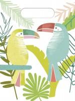 6 Tropische Tukan Geschenktüten