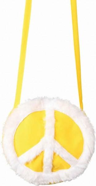 Peace Zeichen Handtasche Gelb