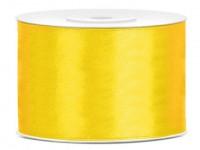 25m Satin Geschenkband gelb 5cm breit