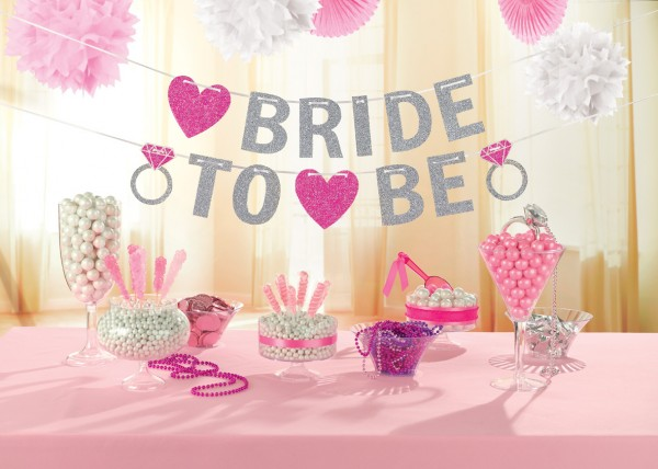 Glittery Bride To Be Garland Bachelorette Party