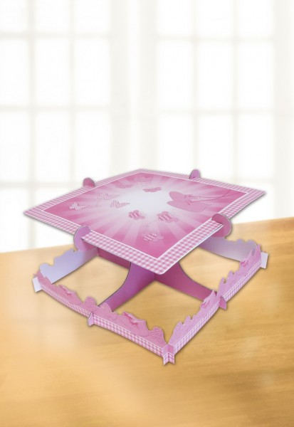 Pink Baptism Blessing Cake Stand