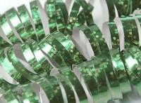 1 Rolle Luftschlangen metalisch Grün