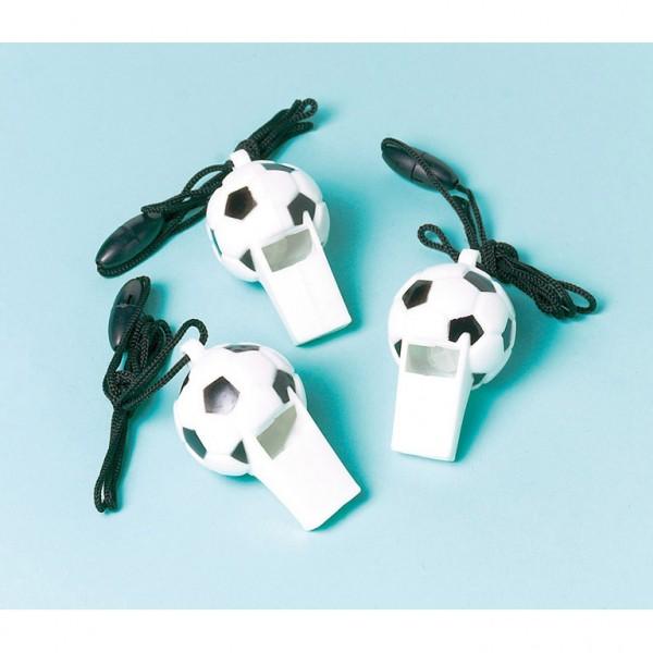 12 Soccer Trillerpfeifen