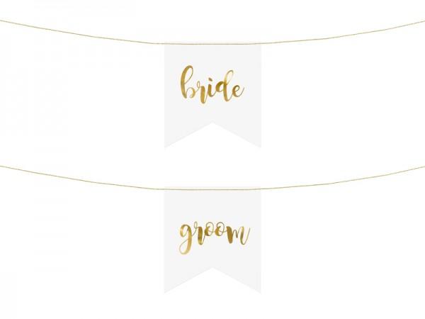Bride and Groom Stuhldeko 20 x 21,5cm